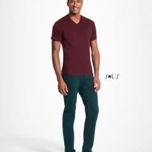 T-Shirt V-Neck, Männer, SOL'S, Front - Hauptstadt Print 24