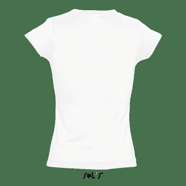 T-Shirt V-Neck, Frauen, SOL'S, Back - Hauptstadt Print 24